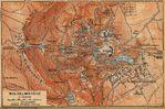 Mapa de Wilhelmshöhe Cerca de Kassel, Alemania 1910