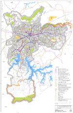 Mapa de la Red Estructural de Transporte Público de la Ciudad de São Paulo