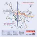 Mapa del Transporte Metropolitano de la Ciudad de São Paulo y Region Metropolitana, Brasil